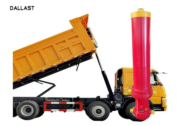 Hollow Dump Truck Hydraulic Cylinder Ram Welded Single Acting